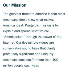 Prager Mission Statement